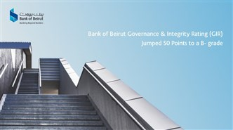 Bank of Beirut Governance & Integrity Rating (GIR) Jumped 50 Points to a B- grade
